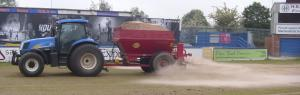 Sand Spreading at Macclesfield Town