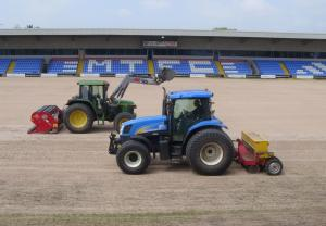Two Tractors at Macclesfield Town